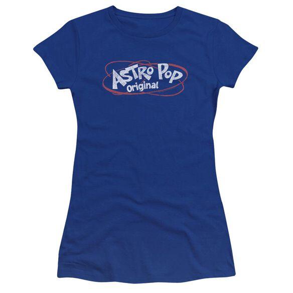 Astro Pop Vintage Logo Premium Bella Junior Sheer Jersey Royal