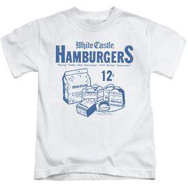 White Castle 12 Cents Short Sleeve Juvenile White T-Shirt