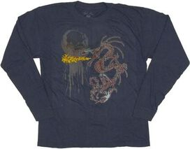 Dragon Flame Long Sleeve Youth T-Shirt