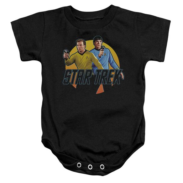 Star Trek Phasers Ready Infant Snapsuit Black Md