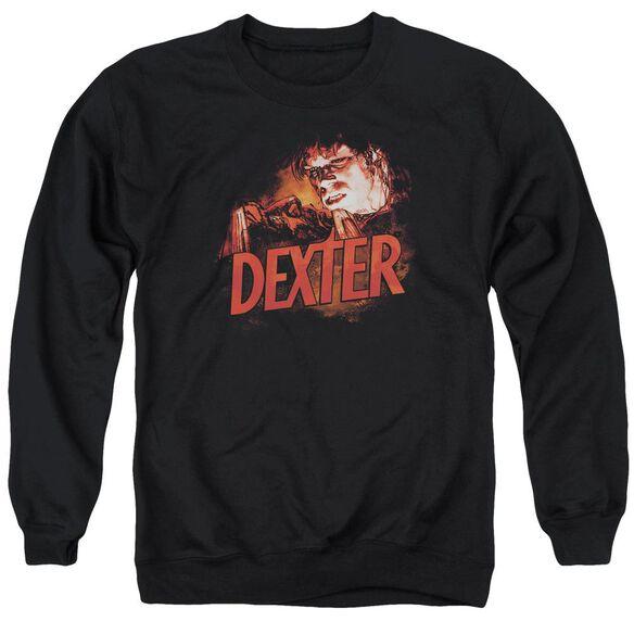 Dexter Drawing - Adult Crewneck Sweatshirt - Black
