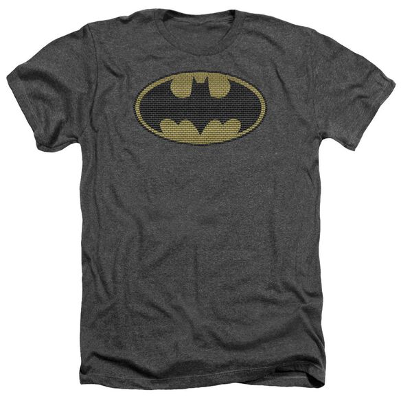 Batman Little Logos - Adult Heather - Charcoal