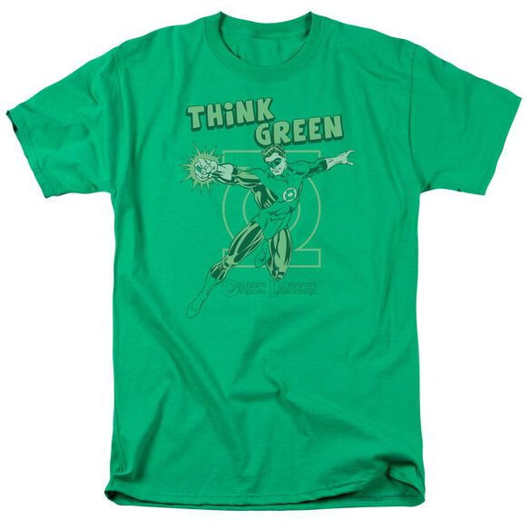 Dc Think Green Short Sleeve Adult Kelly Green T-Shirt