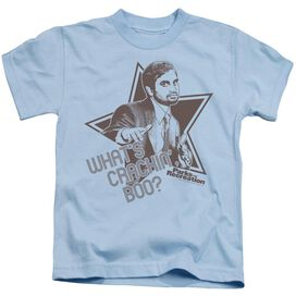Parks And Rec What's Crackin Boo Short Sleeve Juvenile Light Blue Md T-Shirt