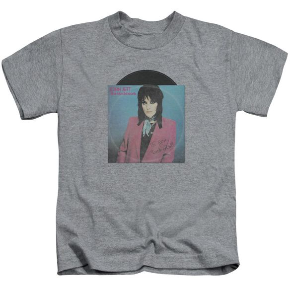 Joan Jett Rock N Roll 45 Short Sleeve Juvenile Athletic Heather T-Shirt
