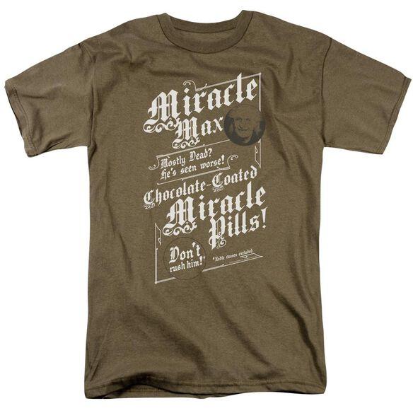 Pb Miracle Max Short Sleeve Adult Safari Green T-Shirt