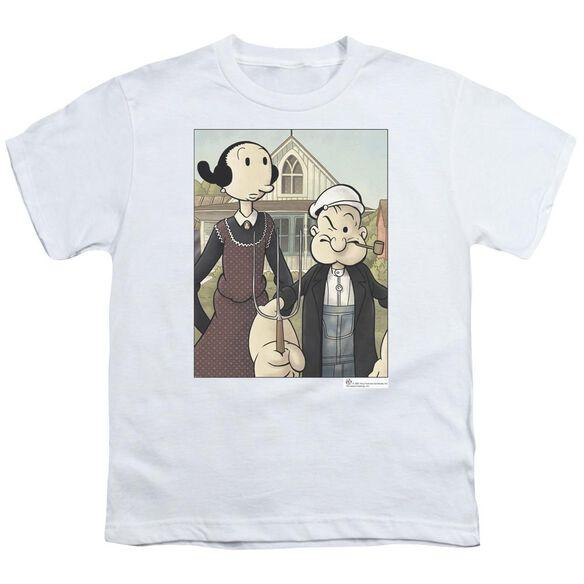 Popeye Popeye Gothic Short Sleeve Youth T-Shirt