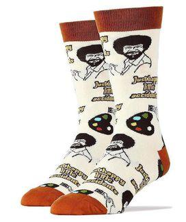 Bob Ross Happy Little Accidents Men's Crew Socks