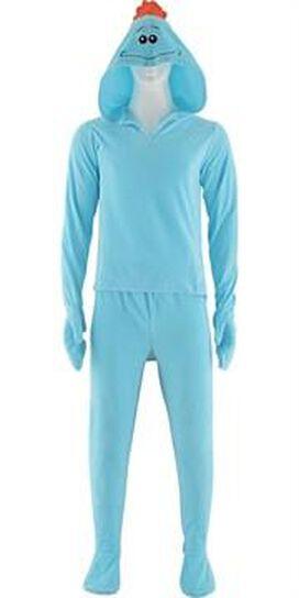 Rick and Morty Mr Meeseeks Hooded Pajama Set