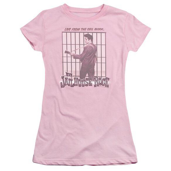 Elvis Cell Block Rock Short Sleeve Junior Sheer T-Shirt