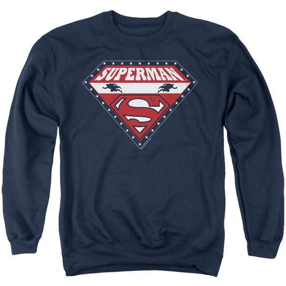 Superman Superman For President - Adult Crewneck Sweatshirt - Navy