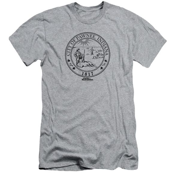 Parks And Rec Pawnee Seal Short Sleeve Adult Athletic T-Shirt