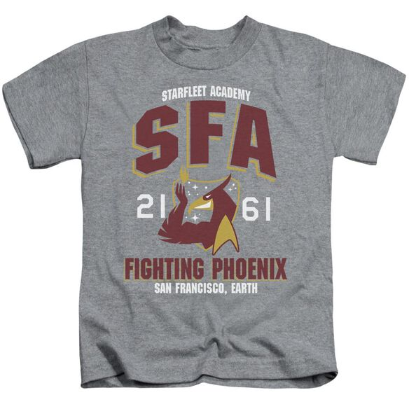 Star Trek Sfa Fighting Phoenix Short Sleeve Juvenile Athletic Heather T-Shirt