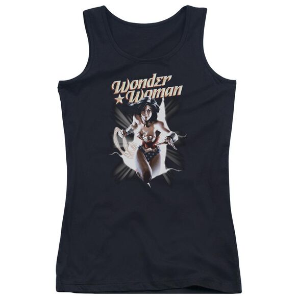 Jla Ww Break Out Juniors Tank Top
