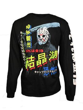 Friday the 13th Jason Neon Kanji Long Sleeve T-Shirt