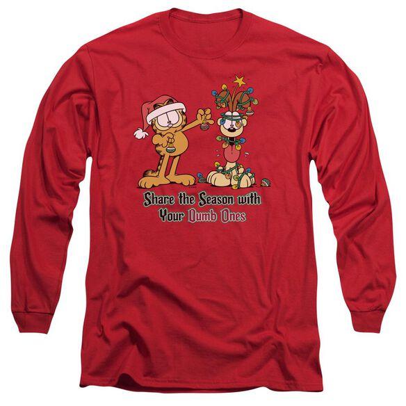 GARFIELD SHARE THE SEASON- L/S ADULT T-Shirt