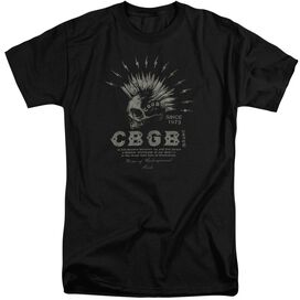 Cbgb Electric Skull Short Sleeve Adult Tall T-Shirt