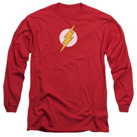Jla Rough Flash Long Sleeve Adult T-Shirt
