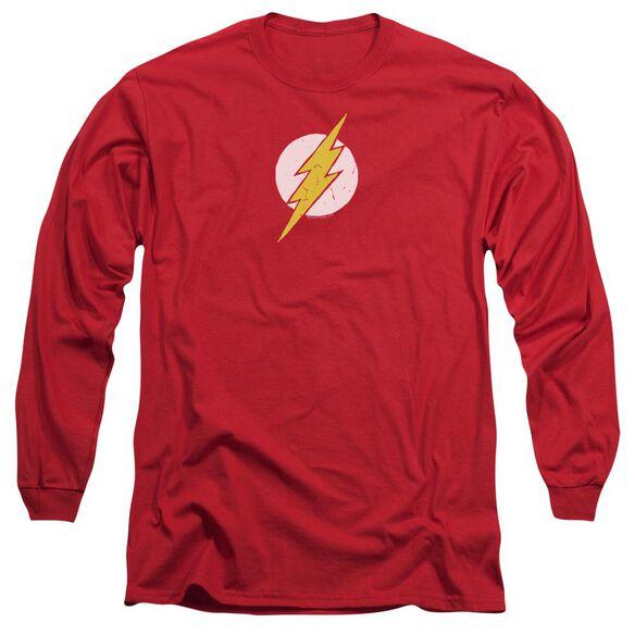 Jla Rough Flash Long Sleeve Adult T-Shirt