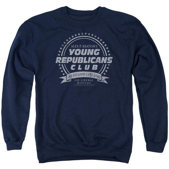 Family Ties Young Republicans Club Adult Crewneck Sweatshirt