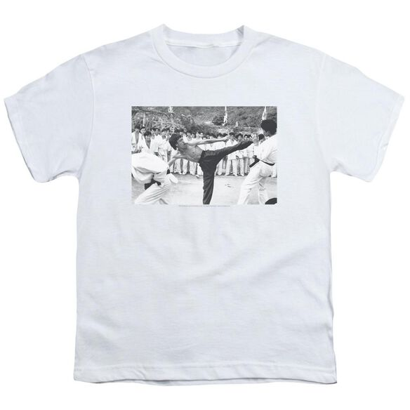 Bruce Lee Kick To The Head Short Sleeve Youth T-Shirt