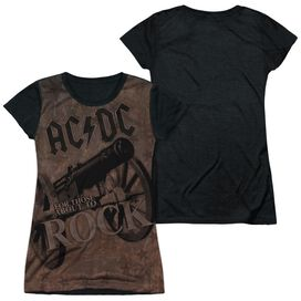 Acdc We Salute You Short Sleeve Junior Poly Black Back T-Shirt