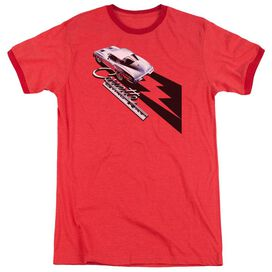 Chevrolet Split Window Sting Ray Adult Heather Ringer Red