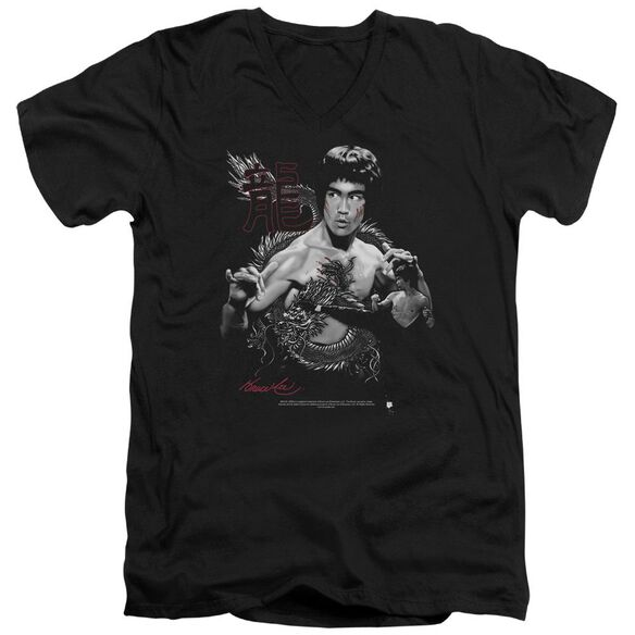 Bruce Lee The Dragon Short Sleeve Adult V Neck T-Shirt