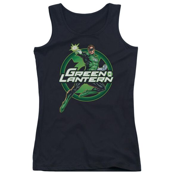 Jla Lantern Glow Juniors Tank Top