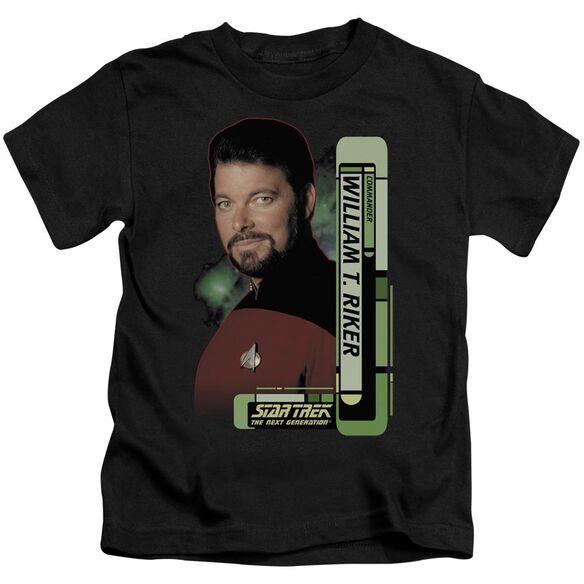 Star Trek Riker Short Sleeve Juvenile Black T-Shirt