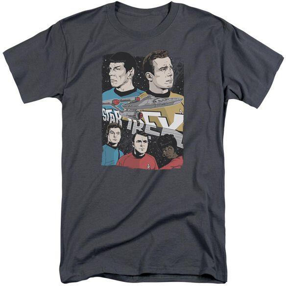 Star Trek Illustrated Crew Short Sleeve Adult Tall T-Shirt