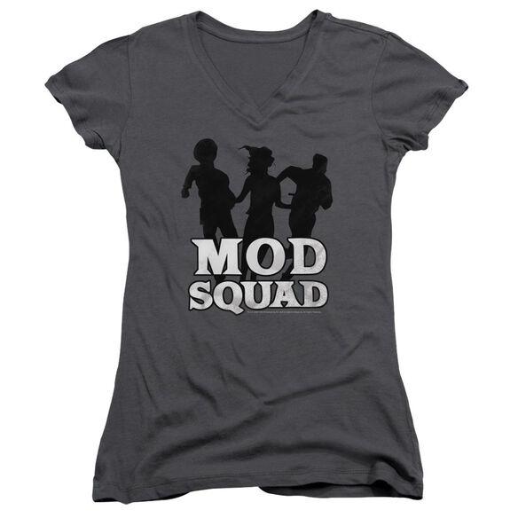 Mod Squad Mod Squad Run Simple - Junior V-neck - Charcoal