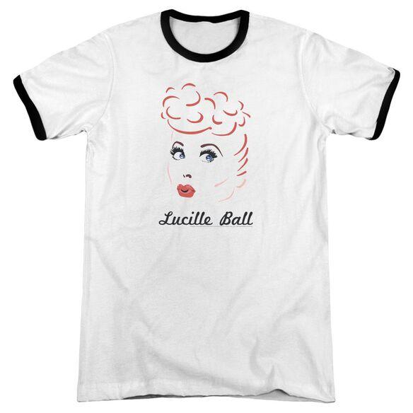 Lucille Ball Drawing Adult Ringer White Black