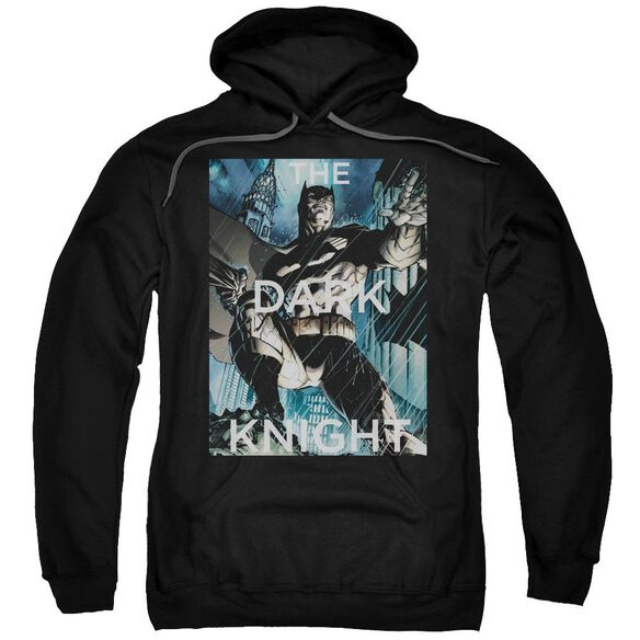 Batman Fighting The Storm Adult Pull Over Hoodie