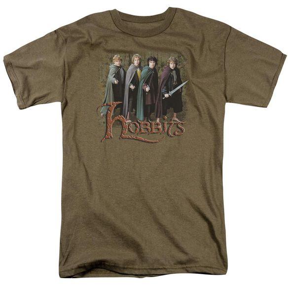 Lor Hobbits Short Sleeve Adult Safari Green T-Shirt
