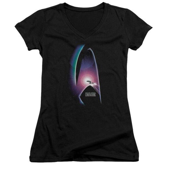 Star Trek Generations(Movie) Junior V Neck T-Shirt