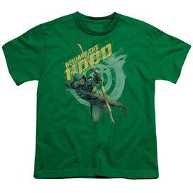 Arrow Beware Short Sleeve Youth Kelly T-Shirt