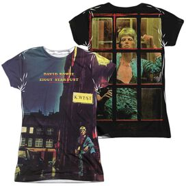 David Bowie Ziggy Star Dust (Front Back Print) Short Sleeve Junior Poly Crew T-Shirt