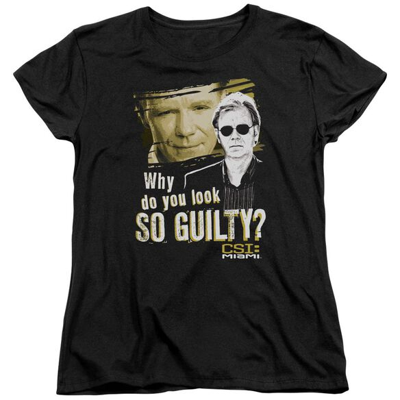 Csi Miami So Guilty Short Sleeve Womens Tee T-Shirt