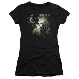 Injustice Gods Among Us Good Vs Evil Short Sleeve Junior Sheer T-Shirt