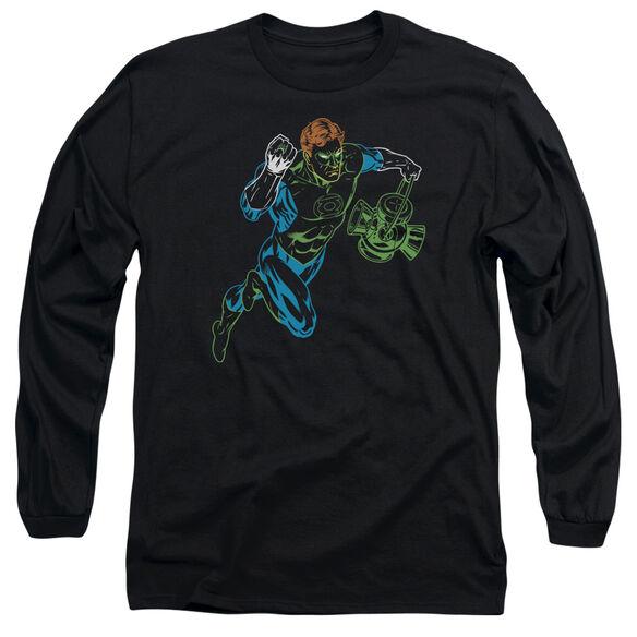 GL NEON LANTERN - L/S ADULT 18/1 - BLACK T-Shirt