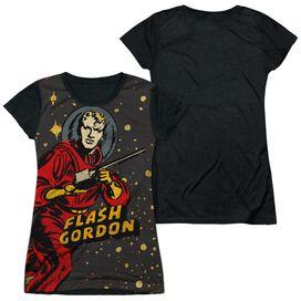 Flash Gordon Blast Off Short Sleeve Junior Poly Black Back T-Shirt