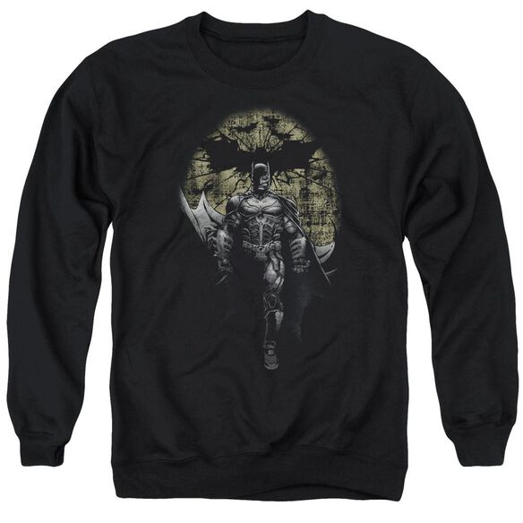 Dark Knight Rises Distressed Dark Knight Adult Crewneck Sweatshirt