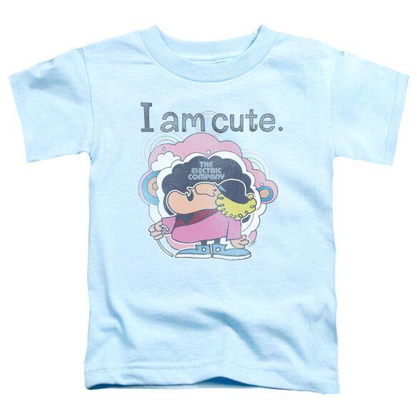 Electric Company I Am Cute Short Sleeve Toddler Tee Light Blue T-Shirt