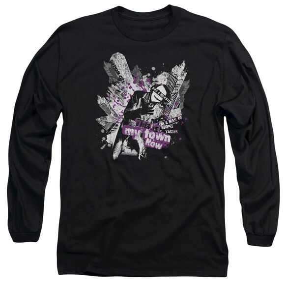 Dark Knight My Kind Of Town Long Sleeve Adult T-Shirt