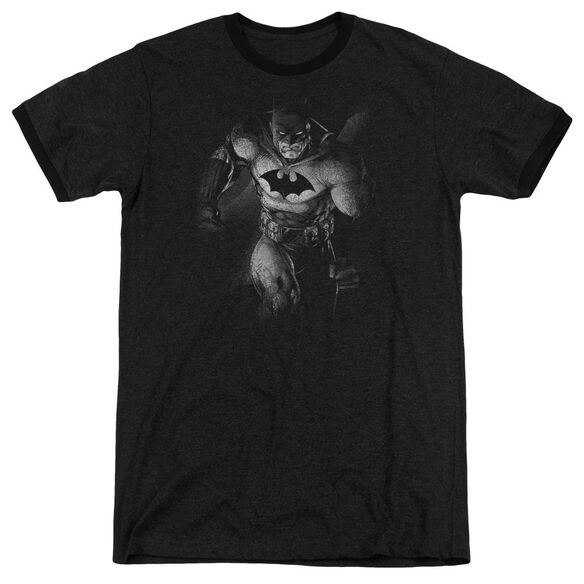 Batman Materialized - Adult Heather Ringer - Black