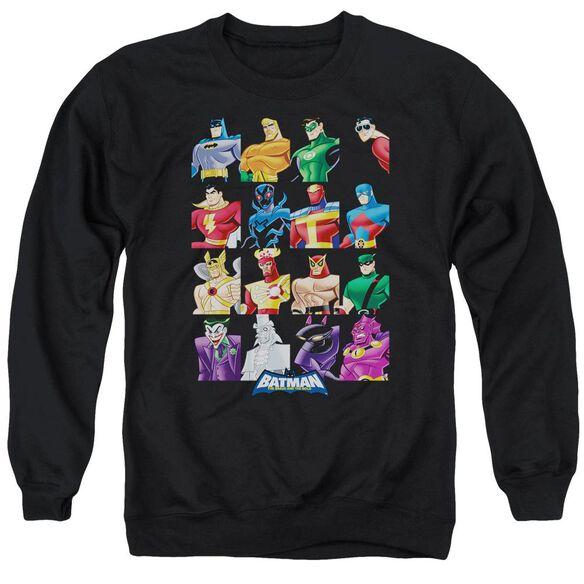 Batman Bb Cast Of Characters Adult Crewneck Sweatshirt