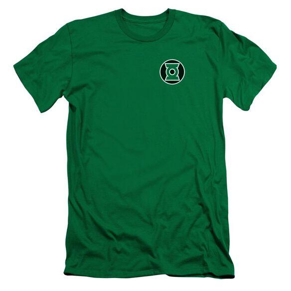 Lantern Kyle Rayner Logo Short Sleeve Adult Kelly T-Shirt