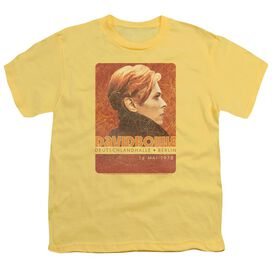 David Bowie Stage Tour Berlin 78 Short Sleeve Youth T-Shirt