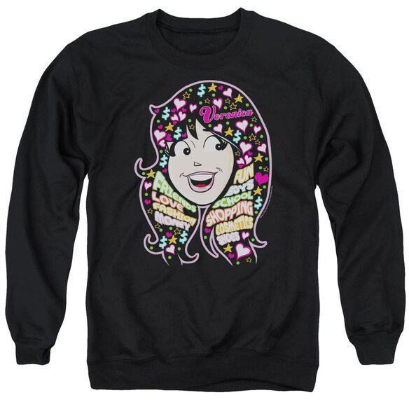Archie Comics Inside V'S Head Adult Crewneck Sweatshirt